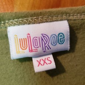 Irma lularoe green XXS top
